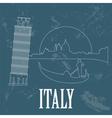 Italian Republic landmarks Retro styled image vector image