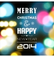 Merry Christmas and HappyNewYear card with lights vector image