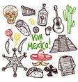 Mexico Doodle Set vector image