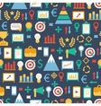 Seamless pattern of flat colorful business and vector image