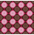 Seamless pattern of red and brown rhombuses vector image