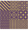 seamless purple gold pattern vector image