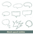 sketch speech bubbles set EPS10 vector image