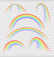 summer realistic rainbow arches isolated vector image