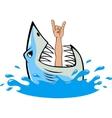 White shark vector image