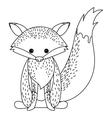 Fox animal cartoon design vector image