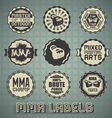 Mixed Martial Arts Labels and Icons vector image vector image
