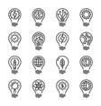 idea intelligence creativity knowledge thin line vector image vector image