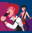 punk rock vector image