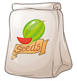 A pack of watermelon seeds vector image vector image