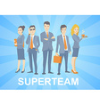 a super business team of young business p vector image