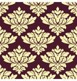 Seamless beige densely floral pattern on violet vector image vector image
