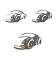 set of hand-drawn car sketches vector image