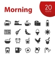 morning icons vector image
