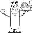 King Sausage Cartoon vector image vector image