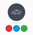 Turtle icon Tortoise sign vector image