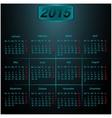 Calendar 2015 Dark style vector image