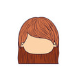 colorful caricature faceless front view cute girl vector image
