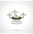 Flat color wi-fi drone icon vector image