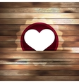 Heart in wood card template EPS 10 vector image
