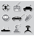 hi-tech modern technology toys simple stickers vector image