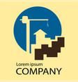 logo construction company vector image