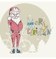 Merry Christmas Background With Santa vector image