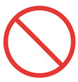 prohibitory sign template vector image