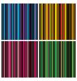 vintage stripes set vector image vector image