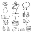 Doodle of thanksgiving hand draw set vector image