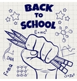 Back to school ball pen sketch vector image