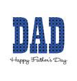 blue bandana happy fathers day vector image