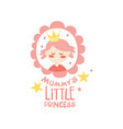 mummys little princess label colorful hand drawn vector image