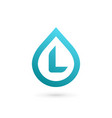 letter l water drop logo icon design template vector image