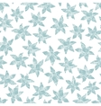 Winter flowers seamless pattern vector image