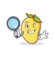 detective mango character cartoon mascot vector image