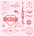 Love graphic symbols vector image