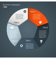 Modern info graphic for business project vector image vector image