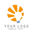 Light logo vector image