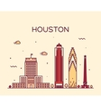 Houston skyline trendy linear vector image