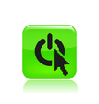 computer power icon vector image vector image