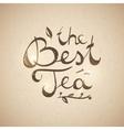 best tea text vector image vector image