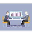 Business Consulting People on Negotiations vector image