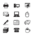Business office tools icon set vector image