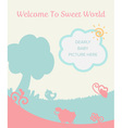 cute pastel gentle filed for new baby born welcome vector image