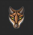 fox logo design template fox head icon vector image