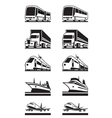 Passenger and cargo transportation vector image