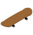 Skateboard isometrics Board for skiing Supplies vector image