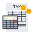 Tax Calculation Concept vector image