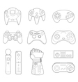 Video Game Controllers Icon Set vector image